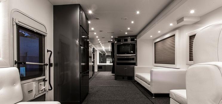 Astonishing Rv Custom Interior Conversion At Premier Motorcoach Home Interior And Landscaping Oversignezvosmurscom