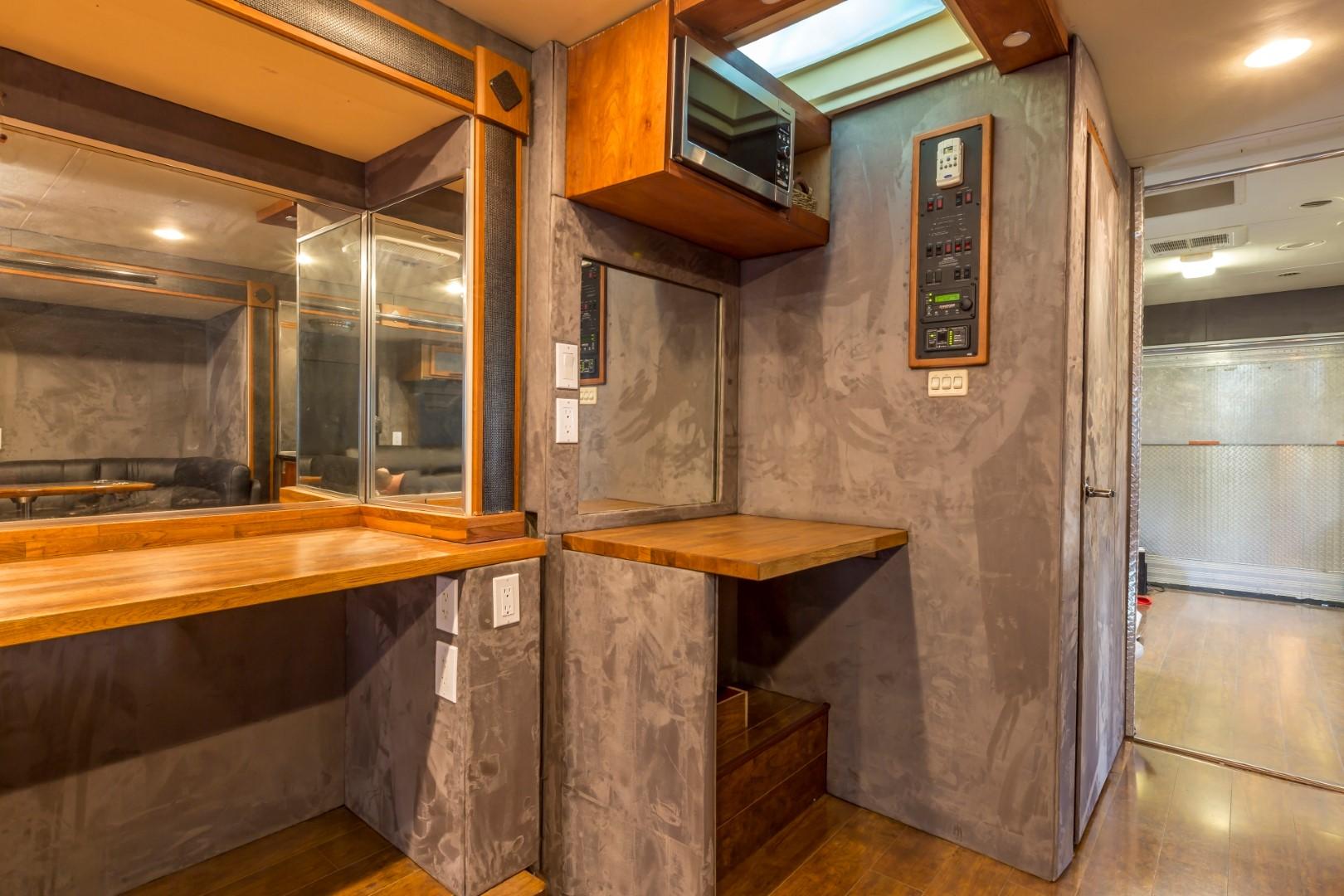 Safari RV Transformed into a Mobile Talent Dressing and Lounge RV